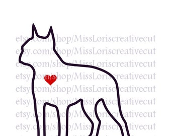 Boston Terrier love  dog Love SVG   cut file  t-shirts  Dog car decalscrapbook vinyl decal wood sign cricut cameo Commercial use