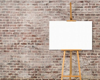 Blank Canvas Stretched Around Sturdy Wooden Frames (3:2 Ratio - Rectangle)