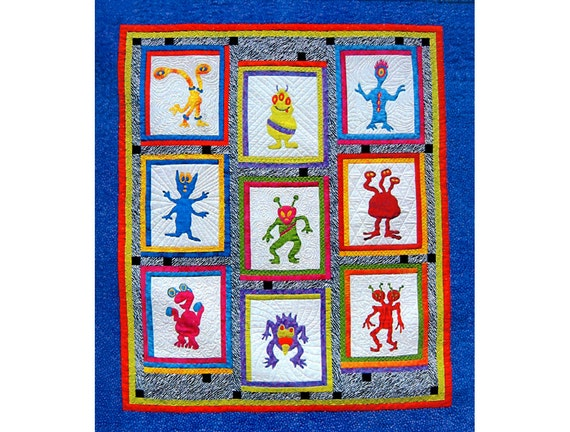 Items similar to my favorite martians quilt pattern for Outer space quilt