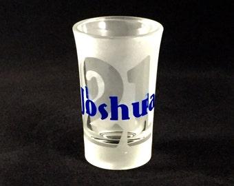 Personalized Shot Glass, 21, 21st Birthday, Birthday Gift, Etched Shot Glass, Gift for Her, Gift for Him, Birthday Gift, Finally Legal