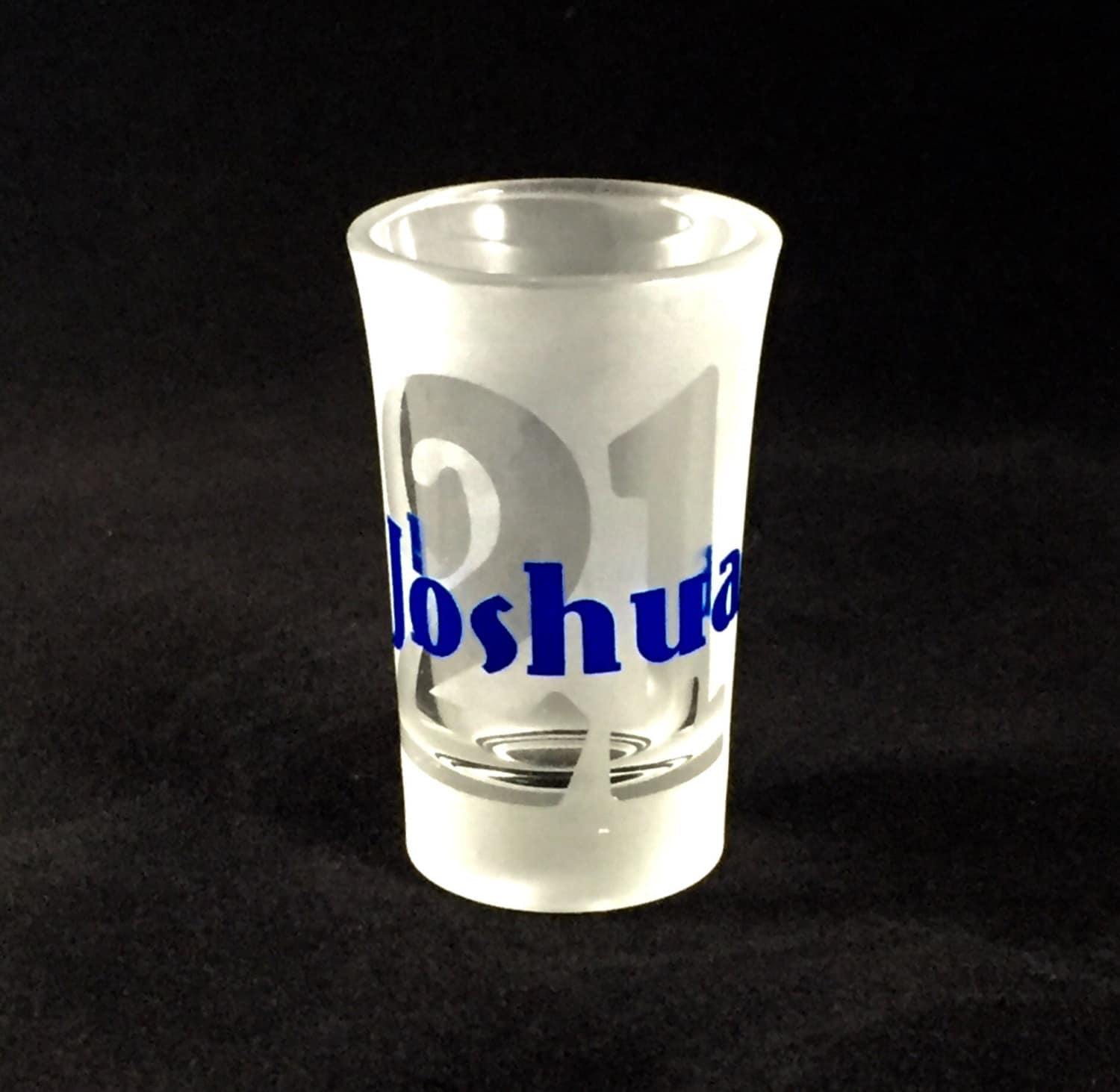 Personalized Shot Glass 21 21st Birthday Birthday Gift