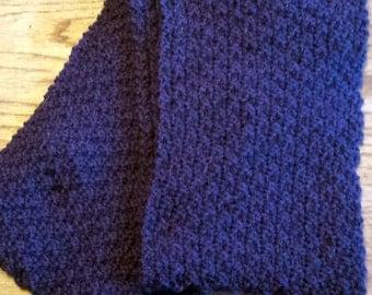 Purple Wool Infinity Scarf