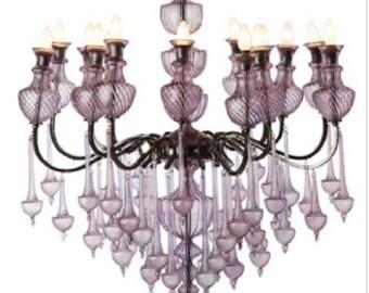 Mouth Blown Handmade Glass Lighting Chandeliers