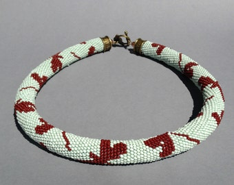 "Handmade bead crochet rope ""Dragonfly"""