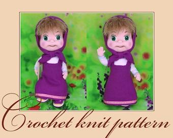 Amigurumi Tutorial Masha : Brave Amigurumi Crochet Pattern PDF file by Anna by KnittLife