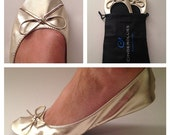 Foldable Ballet Flats,Ballet Flats,Rollable Flats,Wedding Flats,Bridal Flats,Wedding Slippers,Wedding Shoes,Dancing shoe,Bridesmaid Gift
