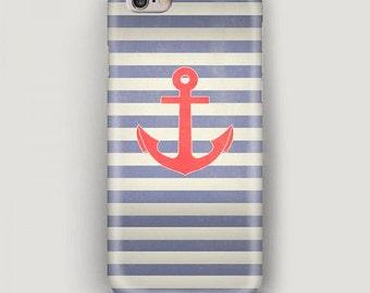 iPhone Case Anchor, iPhone 6 Plus Case, iPhone 6 Case, Sea Style iPhone 5s Case, iPhone 5c Case, iPhone 4 Case, Stripes