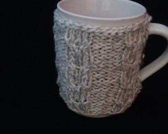 Gray Cup Sleeve, Cup Cozy, Gray  Cup Cozy, Mug Cozy