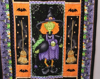 Halloween witch quilt