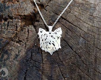 Sterling Silver Yorkshire Terrier Necklace, Yorkshire Necklace, Yorkshire Pendant, Yorkshire Jewelry, Dog Pendants, Dogs Necklaces