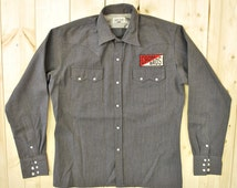 Vintage 1950's Gabardine Western Work Jacket/Shirt / Cruiser / Retro Collectable Rare