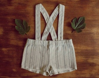 Birch Organic Cotton Suspender Shorts