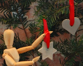 Concrete Christmas Ornaments