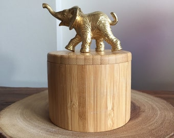 Gold elephant jewelry box/ ring box/ trinket box