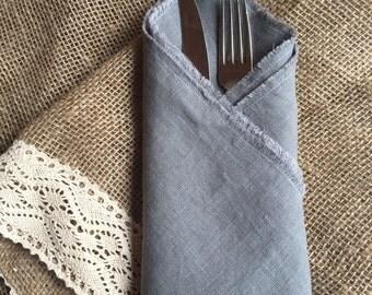 Slate grey Linen Napkin