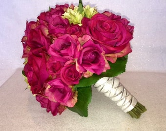 Magenta Wedding Bouquet, Bridal Bouquet