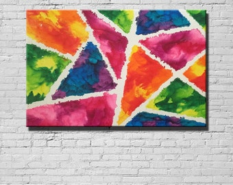 Melted Crayon Art Canvas