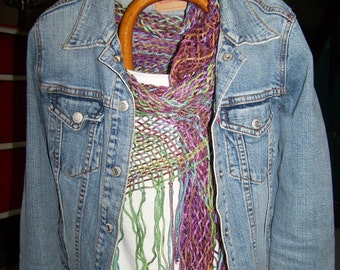 Multi colored, Hand-woven Tri-loom  Shawl