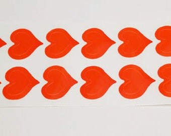 3 Way Heart Tanning Stickers 100 Pack