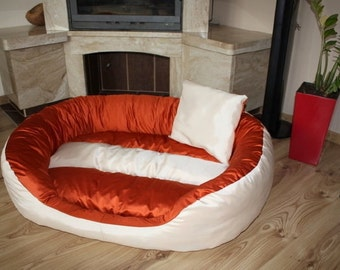 Dog bed/Dog couch with removable cover, 115 x 85