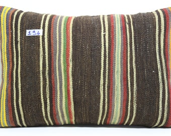 striped kilim pillow 16x24 vintage kilim pillow ethnic pillow throw pillow decorative pillow bohemian pillow cushion cover SP4060-194