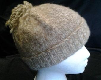 Childs Hand Knit Alpaca Hat, baby Alpaca