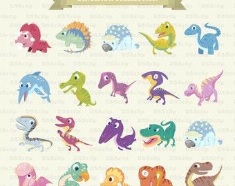 SALE - Limited Time Offer -  Lovely Dinosaur clip art set - Buy 2 Get 1 Free!!