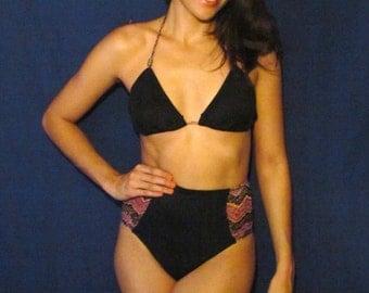 Mesh Black Top 2-piece Swimsuit