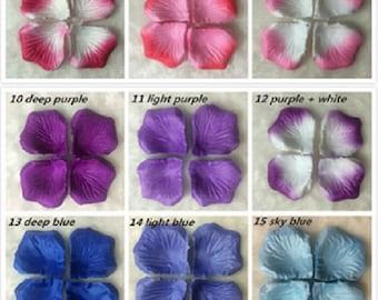 x 500 artificial rose petals 21 colors