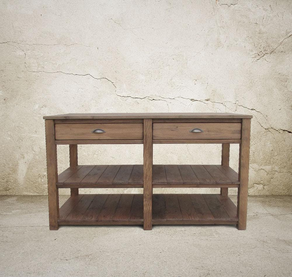 Table Kitchen Island Reclaimed Wood Handmade