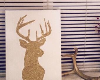 Deer Canvas 12x16