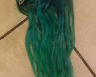 Blue-aquamarine mermaid extensions