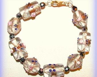 Pearls bracelet Murano vetrodi
