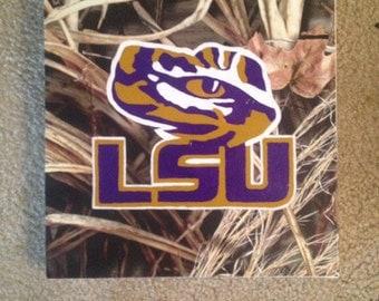 LSU Tiger Eye painting