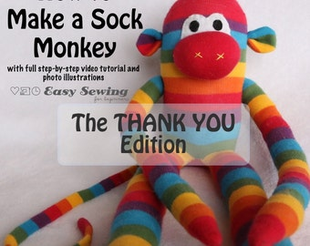 How to Make a Sock Monkey for Beginners - PDF Instructions