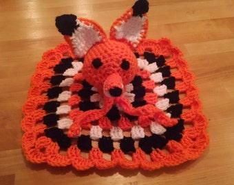 Fox lovey security blanket