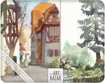 "watercolor - "" Heppenheim carnet"""