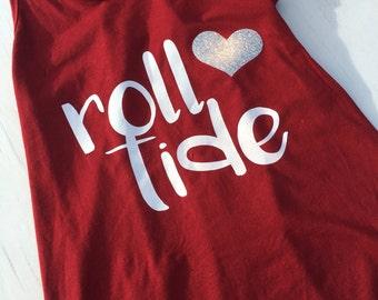Alabama crimson tide womens tanktank, roll tide, glitter tank, alabama, roll tode, crimson, womens, football
