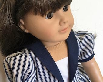 Sailor dress fits American girl dolls