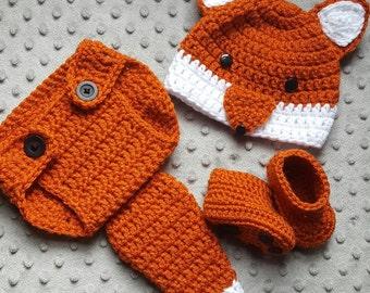 Newborn Fox crochet set