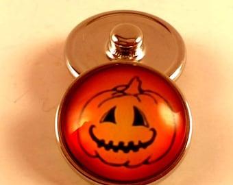 Halloween Jack-O-Lantern Snap Charm