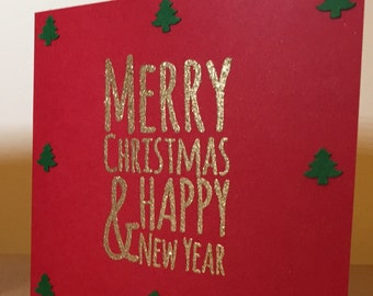 Merry Christmas cards (pack of 5)
