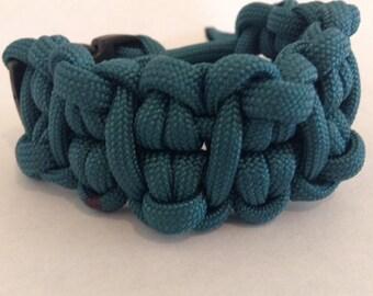 teal cabby paracord bracelet