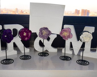 Handmade Flower Place Card Holder, Photo Stand, Party Favor,