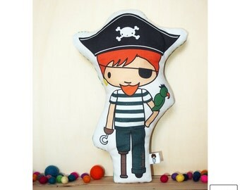 Pirate / doll / cushion / pirate / soft toy / toy cushion / pillow toy / stuffed toy