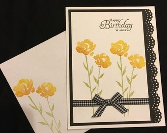 Painted Petals Birthday card