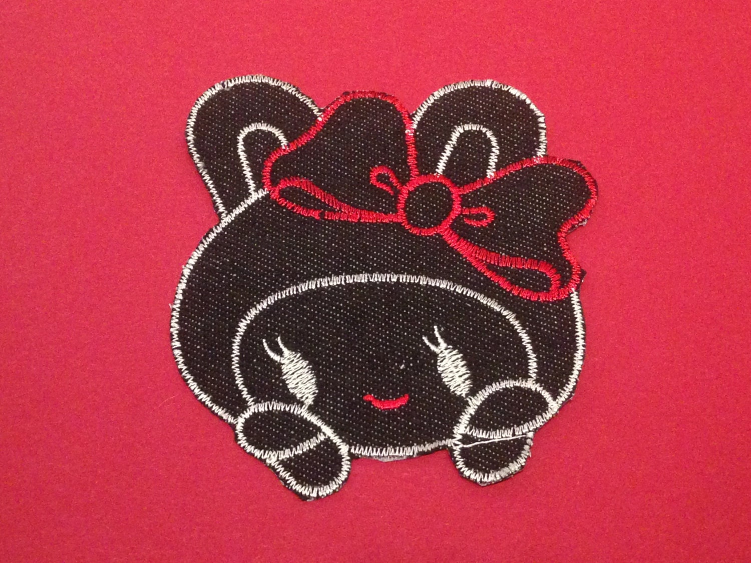 Doll kawaii patch to iron clothing design for