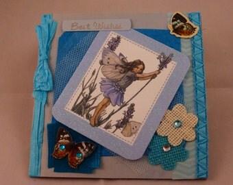 Handmade Blue Fairy Greeting Card