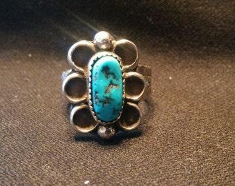 Turquoise Petal Ring