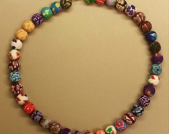 Clay Polymer Beads Necklace